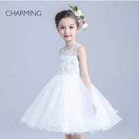 bead embroidery supplies - white dress girls cheap flower girl dresses electronics supply kids girl party dress high quality dress