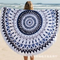 beach floor mat - 960g Cotton Round Beach Towel Thicken Soft Towel Tassel Types Yoga Carpet Floor Mat Cotton Towel cm cm