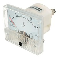 analog ac amp meter - Excellent Quality White AC A Rectangle Analog Amp Meter Measurement Ammeter Current Panel Gauge With Screws For Experiment
