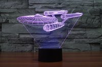 action tables - Hot New D Bulbing illusion Star Trek Death Star Millennium Falcon LED Lighting Gadget Table Lamp Action Figure for Child Gift