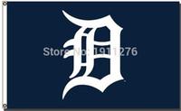 achat en gros de 3 'x 5' drapeaux-Detroit Tigers Flag 3 'x 5' FT MLB Banderole trous en laiton métalliques Flag Taille No.4 144 * 96cm drapeau personnalisé