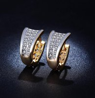 Wholesale 18k gold plated Hoop Huggie Earing CZ diamond AAA Earring Trend Jewelry Earrings For Women ME027 c1