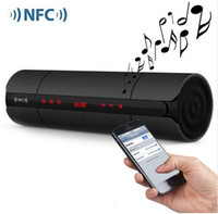 al por mayor pantalla mp3 mp4-Estéreo portátil KR8800 NFC FM HIFI Bluetooth Wireless Speaker Altavoces bajo estupendo colorido Som con toque pantalla LED