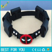Wholesale high quality super hero deadpool belt with bags Waistband Wade T Wilson Unisex Halloween Cosplay Accessories