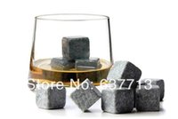 Wholesale brand new Whisky stones set in velvet bag whiskey stone rock sets