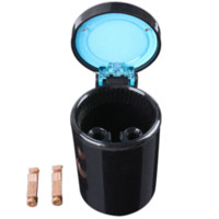Wholesale Black Color Portable Car LED Light Ashtray Auto Travel Cigarette Ash Holder Cup M50999 cup holder ashtray