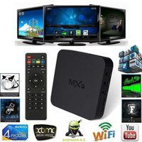 Wholesale MXQ Android TV Box mxq Amlogic S805 Quad Core Cortex A5 Mali GB GB H H KODI Pre installed MX MXQ Android TV Box