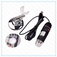 Wholesale 50 X Portable Digital Microscope Magnifier Endoscope MP LED USB Electronic Microscopes Video Camera for Win10 XP Win8 Mac OS Linux