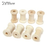aluminum reel vintage - Modern Practical Vintage Style Wooden Bobbins Spools Reels Organizer For Sewing Ribbons Twine Wood Crafts Tools NEW