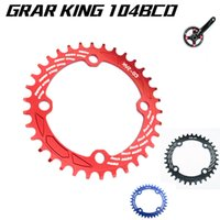 bicycle chainrings - Gear King Ultralight T T T BCB chainwheel MTB bicycle Narrow wide Oval chainrings A7075 Alloy bike circular crankset