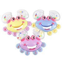 Cheap 3PCS Baby Toys Baby Rattle Hand Bell Infant Toy Crab Cartoon Brinquedos Juguetes Early Education Gifts Kids Toys