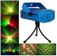 Wholesale Blue Black Mini Laser Stage Lighting mW Mini RED Laser DJ Party Stage Light Disco Dance Floor Lights