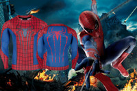 adult halloween shirts - 2016 Halloween Clothing Cosplay Costumes Long Sleeves Round Neck T Shirt Man Clothing Men s Spiderman T Shirts Adult Theme Costume