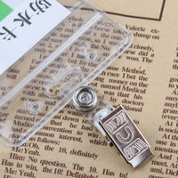Wholesale Pieces Badge Holder Metal Clips Office School Business Hospital Company Supplies ID Card Holder Accessories