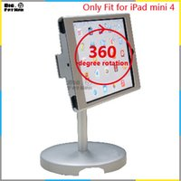 aluminium desk display - 360 rotation tablet pc stand display holder for iPad mini stand safe desk top holder Tablet lazy Holder metal box foothold