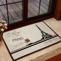 bedroom french doors - Retro Style French Paris Eiffel Tower Home Floor Mat Rug Door Bath Mat Soft Absorbent x CM