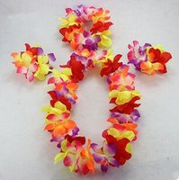 Cheap Wholesale-flower garland dance head flower decor hawaiian flower necklace wrist flower Festival Celebration Party supplies Children's Day