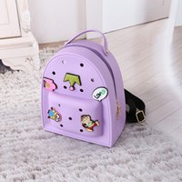 backpack stickers - 2016 Cartoon stickers zipper shoulders jelly packages Backpack Adult Children Both Useful for the Pure Backpack