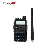 analog portable radio - RowayRF UV R Walkie Talkie Portable Analog Two Way Radio Handheld Intercom UHF VHF Amateur Long Range Transceiver Flashlight