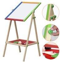 Wholesale Children Kids In Black White Wooden Easel Chalk Paint Drawing Board L