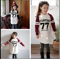 Wholesale Children clothes Spring and Autumn girls casual letters long sleeved cotton sweater kids coat girls Sweatshirt