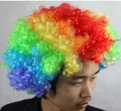 average gram - 165 grams of colorful explosion head wig cosply clown wig fan head funny hair act the role ofing