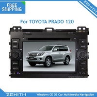 best mobile maps - best offer CAR DVD Player for TOYOTA PRADO120 Free GPS map Din FM Radio Bluetooth mp3 rear view cam