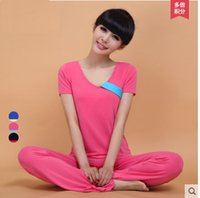 Wholesale New Spring And Summer Short Sleeved Yoga Suit More Dance Yoga Clothing Female Special Offer J279