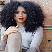 Wholesale 180 density Afro kinky curly wig human hair Brazilian kinky curly full lace wig glueless lace front wigs for black women