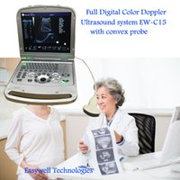 Wholesale 15 Inch LED Minitor Laptop Color Flow Doppler Sonography EW C15 With Convex Probe For Abdominal Diagnostic