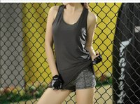 Wholesale New Fashion Yoga Outfits For Women Sleeveless Vest Gym Sport Suits Running Sportswear Vetement Femme