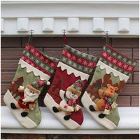 Wholesale Christmas stocking cotton Christmas gift bag stocking styles stock Christmas tree decoration socks new style
