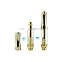 Wholesale 510 thread Gold Stainless cartridge Pyrex Glass cbd Oil CBD Thick Tank BUD Touch Cartridge O Vape Pen Kits int03