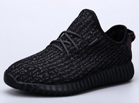 Wholesale Cheap Big Boots - New Arrival Cheap Kanye West Boost 350 Pirate Black Low Sports Running Shoes Women and Men Sneakers Training Boots Big Size 36-48