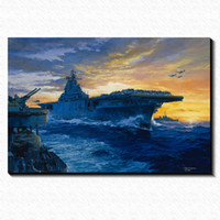 aircrafts pictures - Aircraft Carrier Painting Picture Canvas Poster Home Bar Pub Garage Art Decorative Print Canvas Painting cm