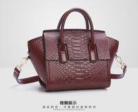 Wholesale 2016 new style European style Portable Shoulder Messenger Bag Lady Leather bags Crocodile air bag