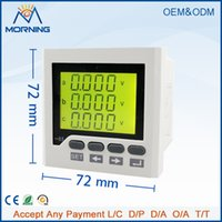 Wholesale 3D6Y panel size low price three phase ac lcd communication rs485 digital multifunction meter for industrial usage