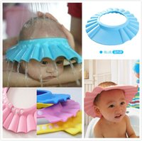 Wholesale Baby Shower Cap Children Shampoo Bath Wash Hair Shield Hat Soft Adjustable