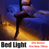 automatic night light lamp - New Arrival Bedlight Motion Activated Sensor LED Strip Light Night Lamp with Automatic Shut Off For Baby bed bathroom wardrobe kitchen