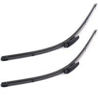 Wholesale 2Pcs quot Car Accessories Windshield Wiper Blade Bracketless Soft Rubber Arm Blade for Audi A4 B6 B7 S4 RS4 A6 MA176