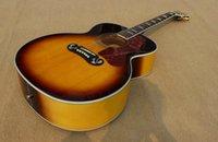 acoustic electric guitar - OEM Guitar New Arrival Acoustic Electric Guitar High Quality Musical instruments tobacco burst J200
