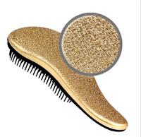 Wholesale Fashion Combs Hot Stamping Anti Static Hair Brush ABS Magic Hair Brushes Salon Elite Tangle Brush TT Hair Combs For Women Ladies