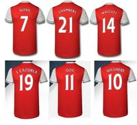 Wholesale Whosales New ArSENsALLsss Jersey Ozil Soccer Jerseys Football Shirt Giroud Wilshere Ramsey Alexis Sanchez XHAKA Giroud Thai