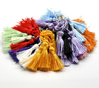 Wholesale 100PCs Mixed Silky Tassels Sewing Accessories Crafts DIY Key Tassels cm quot quot B18179 order lt no track