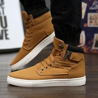 tenis - Tenis Masculino Mens Shoes Sneakers Sapatos Buckle Fashion Autumn Winter Leather Fur Boots Man Casual High Top Canvas Men Shoes EUR