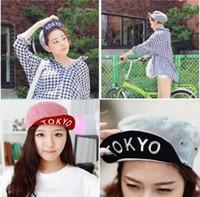 Compras de Corea del ala señora sombrero volvió ensanchan de Corea del hip-hop a lo largo de la marea casquillo plano casquillo plano Tokio especiales al por mayor
