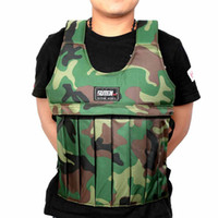 Wholesale SUTEN kg Camouflage Weighted Vest With Sholder Pads Comfortable Weight Jacket Adjustable Sanda Boxing Sand Empty