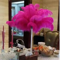 Wholesale Many Colors DIY Ostrich Feathers Plume Centerpiece for Wedding Party Table Decoration Wedding Decorations hot selling CM
