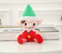 best new year decoration - 2017 Christmas Santa Elf Plush Toys Best Chrismas Gifts For Children Christmas Party Decorations Toys inch EMS shipping E1707