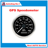 automotive gps speedometer - GPS Compteur GPS Speedometer Stainless Waterproof Gauge KM H MP H Car Truck mm V V